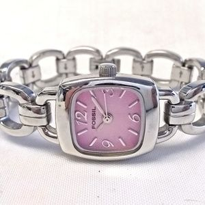 Fossil F2 Watch Stainless Steel Purple Petite